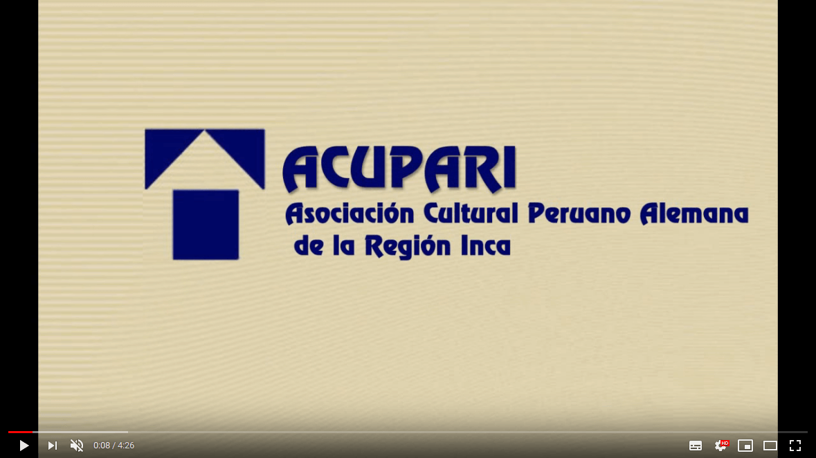 Presentation of ACUPARI Cusco
