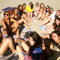 Students in the beach, IEF, Montpellier