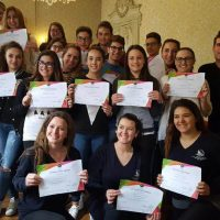 Students with certificates, IEF, Montpellier