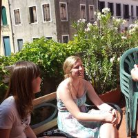 Students talking, Istituto Venezia, Venice and Trieste