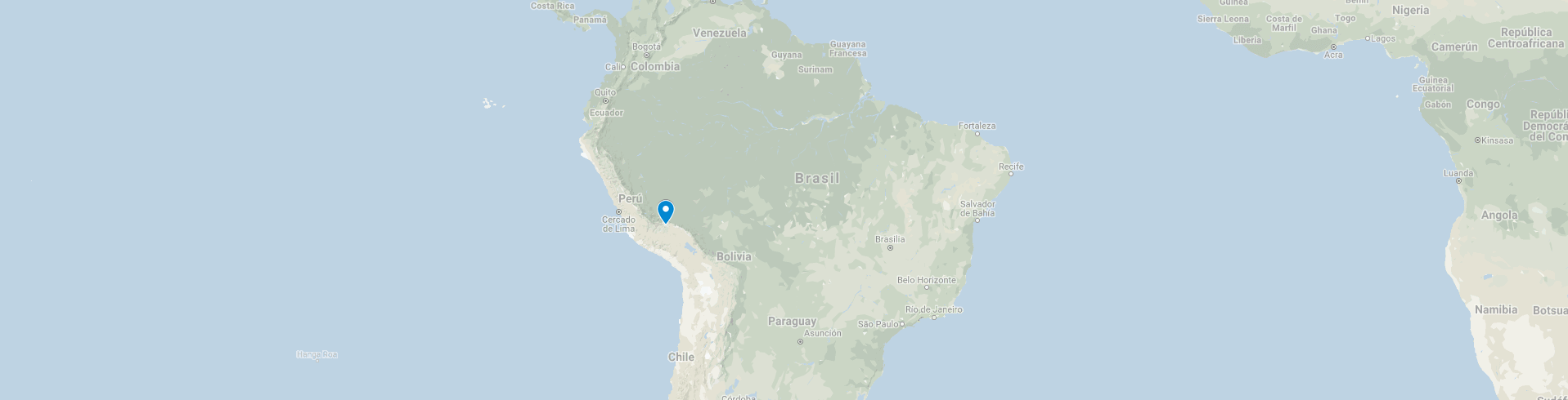 Study Spanish in Peru: map of Peru