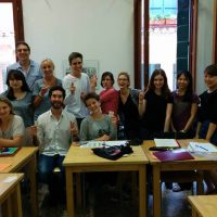 Students in class, Istituto Venezia, Venice and Trieste