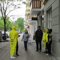 Students with funny costumes, TANDEM Berlin German language school