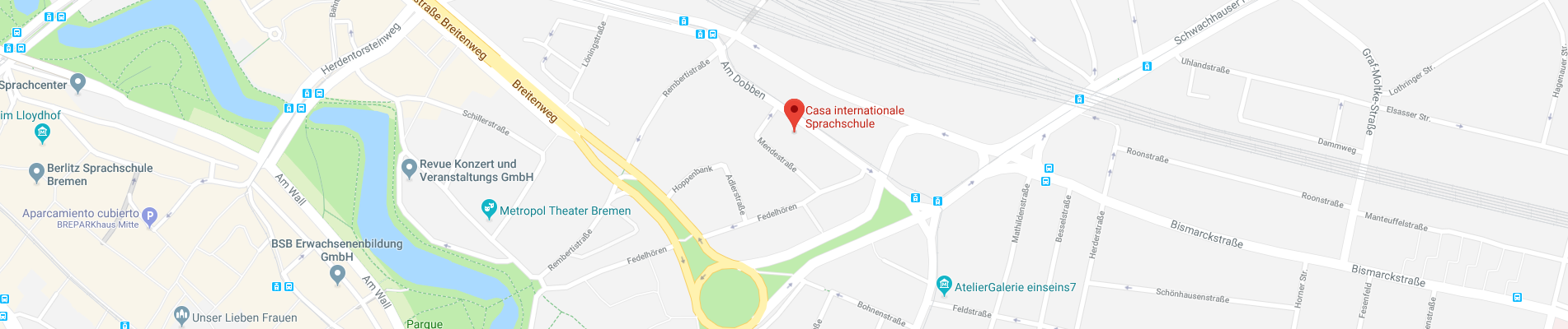 Mapa de Casa internationale Sprachschule