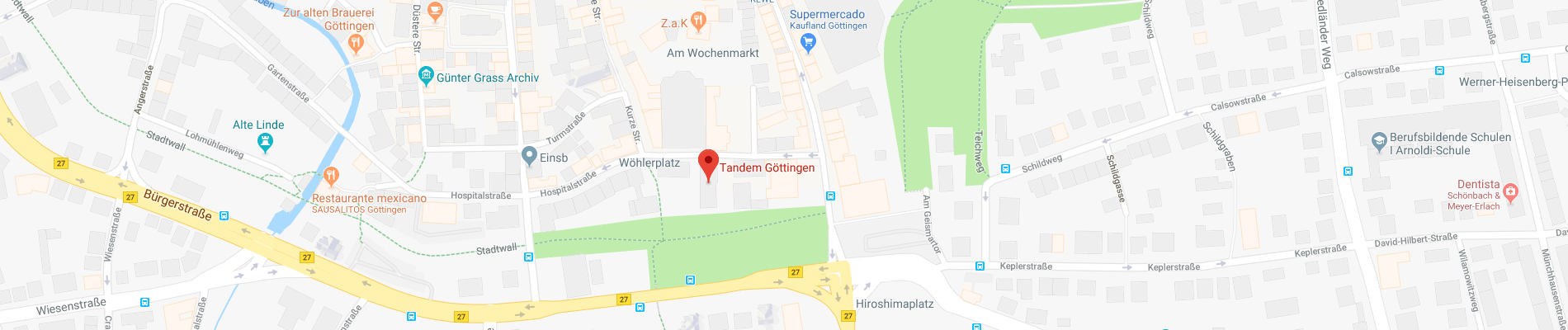 Map Of Germany Gottingen.Tandem Gottingen German Language School In Gottingen Germany