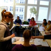 Students in class, TANDEM Hamburg German language school